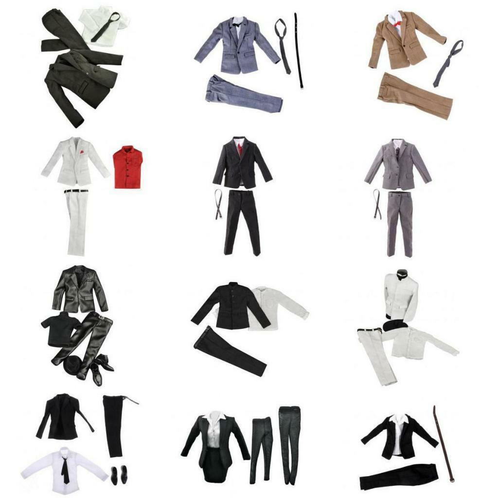 1 6 Scale Mens Womens Suit Set Outfit Clothing for 12'' Action Figure Accessory
