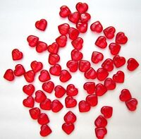 Valentine Red Shiny Hearts Table Scatter Decorations 100 Red Hearts