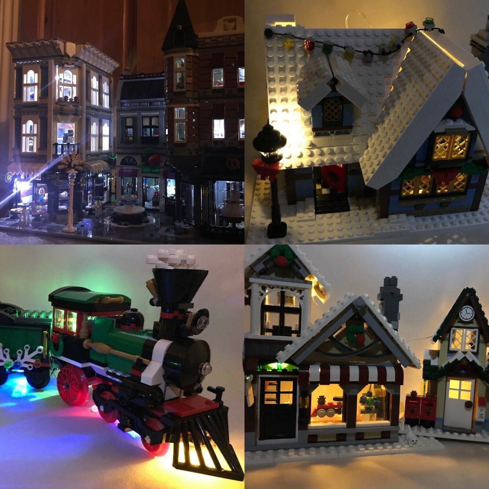Lego Creator Expert modulaire modulaire modulaire Village Hivernal  triple-Éclairage DEL USB Light Kit 56d09a