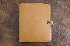 RARE Filofax Vintage Sandhurst Natural Leather A5 Size Organizer Planner
