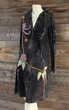 Rising International Long Embroidered Hoodie Duster Jacket Size Medium
