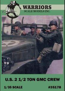 Warriors-1-35-U-S-2-1-2-Ton-GMC-Crew-3-Resin-Figures-Kit-35178