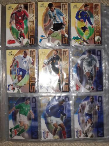 Futera Platinum World Football 2003-2004 rare cards