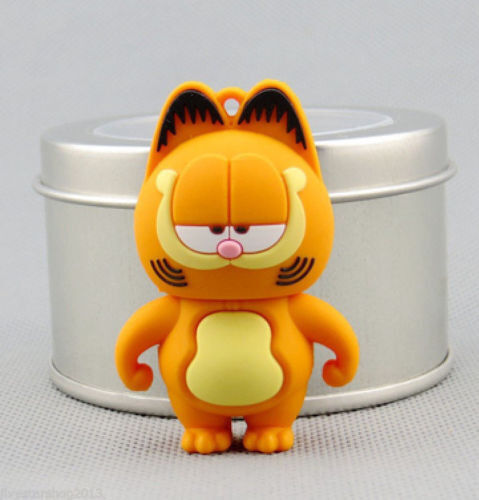 Genuine 4-32GB Funny Garfield Cat model USB 2.0 Flash Memory Stick Pen Drive LK6