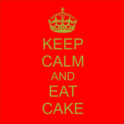 Keep Calm And Eat Cake Wall Art Decal Wall Stickers Decor Kitchen Dining Lounge