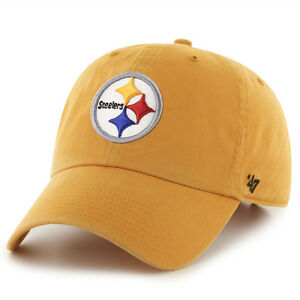 1dec69629909c Image is loading Pittsburgh-Steelers-47-Brand-Clean-Up-Hat-Adjustable-