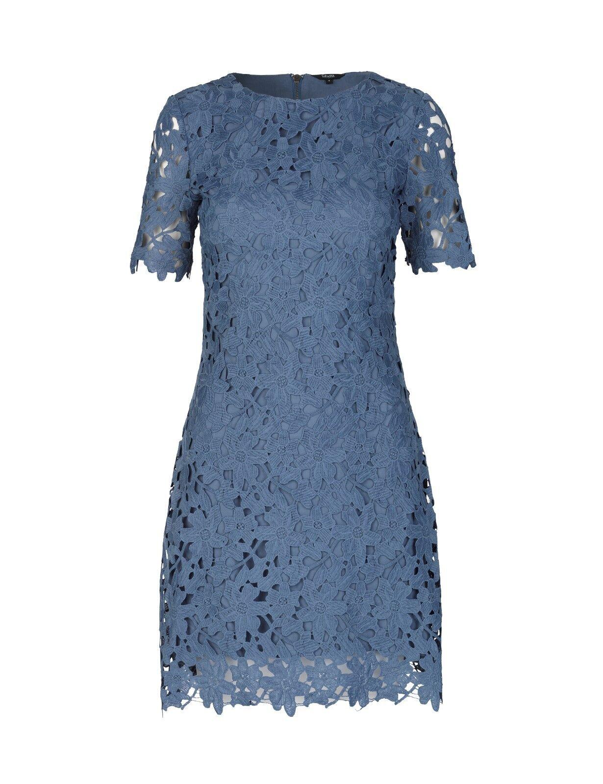 MbyM Georgia Gene Crochet Lace Midi Dress Large BNWT RRP 131.95 Shower bluee