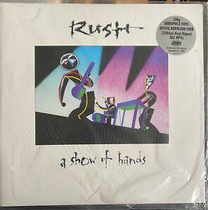RUSH - A SHOW OF HANDS  2 Vinyl LP Limited Edition DMM 200 GR Neu OVP