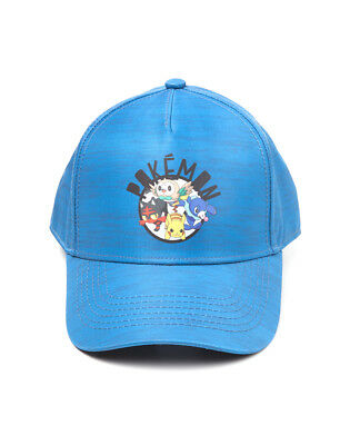 OFFICIAL NINTENDO - POKEMON SUN AND MOON PRINTED CURVED BASEBALL CAP (NEW)