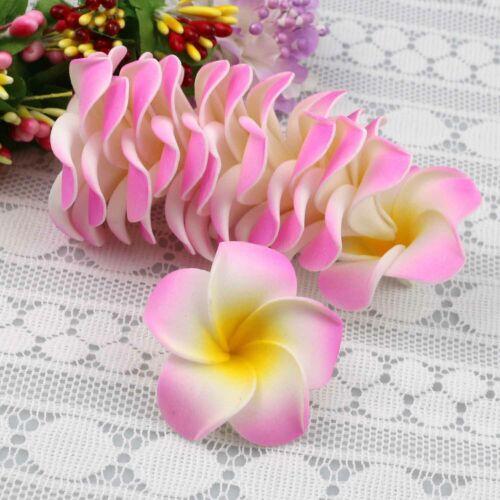 Small 10-15 Pcs Foam Plumeria Artificial flower Heads Hawaiian Foam Frangipani