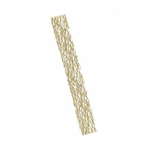 7//8-Inch x 9-Feet Offray Metallic Web Craft Ribbon Metallic Gold