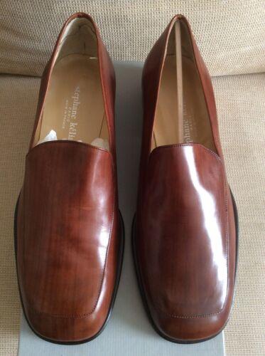 Brown Designer Leather Falano Stephane Nos Rare Loafers Mens Kelian wdFIq1d4