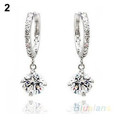 Womens New Charm Austrian Zircon Crystal Rhinestone Shining Stud Drop Earrings