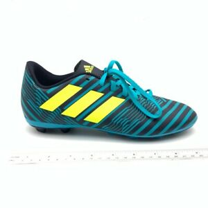 Sip Albardilla taza  Adidas Boys Nemeziz 17.4 FxG Soccer Cleats Blue Lace Up Low Top S82458 6  New | eBay