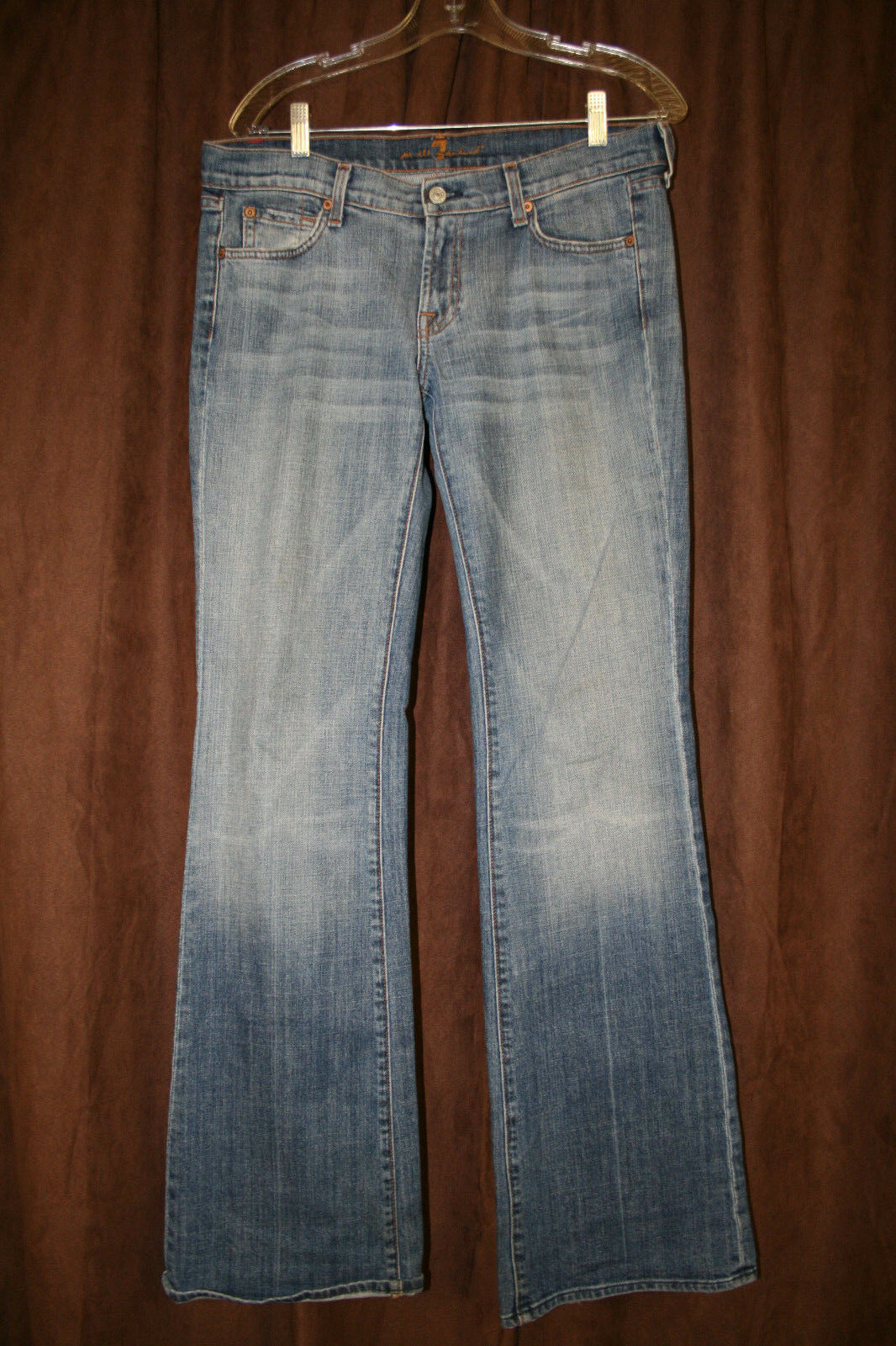 7 For All Mankind Flare Jeans 30 x 34 Cotton Blend