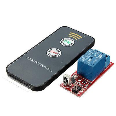 1 Channel Remote Controllor Self Lock Switch Relay Board Wireless IR Control 12V