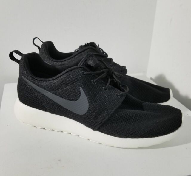6ed42fc1de7c Nike Roshe One Sz 10 Black Sail Anthracite White 511881 010 for sale ...