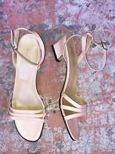 e4b56194f98c Image is loading NWOB-NORDSTROM-ITALY-PINK-LEATHER-STRAPPY-HEELS-SANDALS-