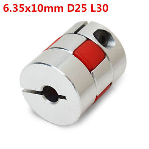 Complexé 6.35mmx10mm Aluminum Flexible Spider Shaft Coupling Cnc Stepper Motor Coupler