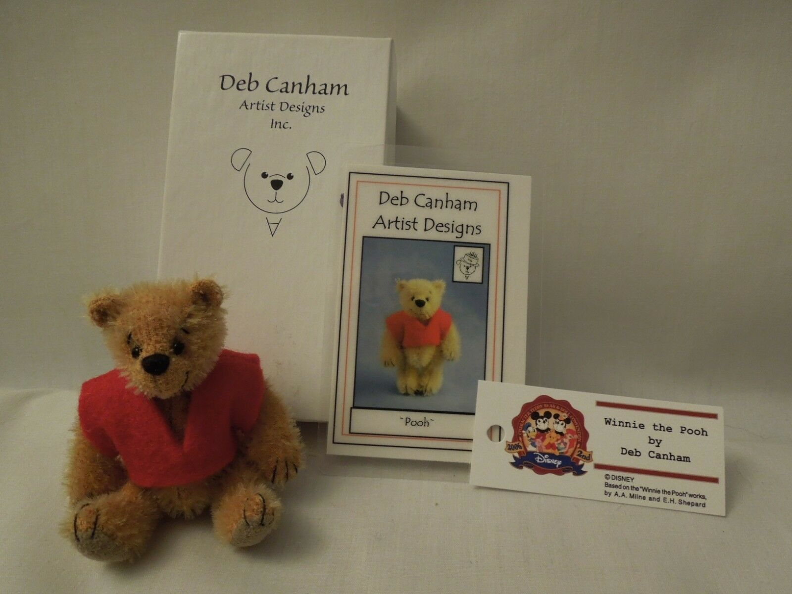 Deb Canham Artist Designs Mohair  Pooh  14/20 LE Signed 1999