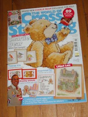 World of Cross Stitching Magazine Issue 133 No Gift, Charlie Bear, Lilliput Lane