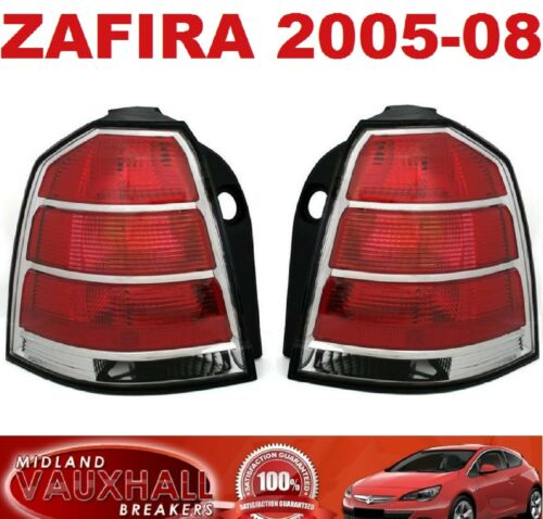 VAUXHALL ZAFIRA B PAIR REAR BACK LIGHTS 05-08 CDTI ECOFLEX LIFE