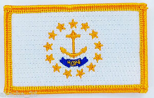Ecusson Brodé Patch Drapeau Rhode Island Usa Etats Unis Flag Embroidered 7mtfk8jq-07222347-895722633