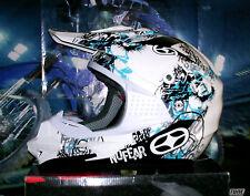 No Fear óptimamente 2 Cross casco Phantom Blue nuevo enduro quad casco XL yamaha yz-f YZ