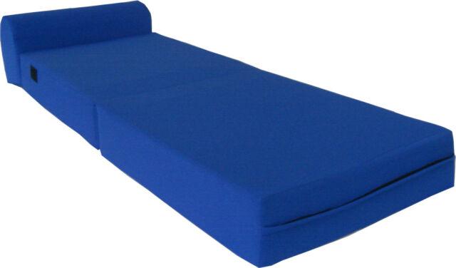 Denim 6 x 32 x 70 Sleeper Chair Folding Foam Bed Studio Beds Density 1.8 lbs