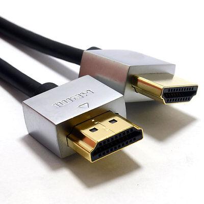 2m Ultra Dünne niedriges Profil HDMI 1.4 Hohe Geschwindigkeit Kabel Gold für