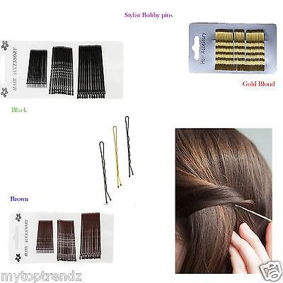 36Pcs Long 5.8CM Black Hair Bobby Pins Grips Hair Clip