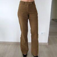 Tom Tailor Hose Wildleder Optik Leder Damen Reiter Style camel Gr.34 *TOP*