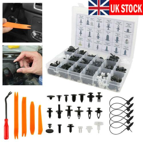 435x Car Plastic Push Pins Fastener Clips Rivet Retainer Auto Trim Panel Tool F1