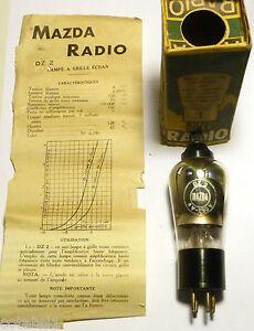 DZ2-triode-a-grille-ecran-MAZDA-RADIO-teste-100-OK-NOS-Hyper-rare-NIB