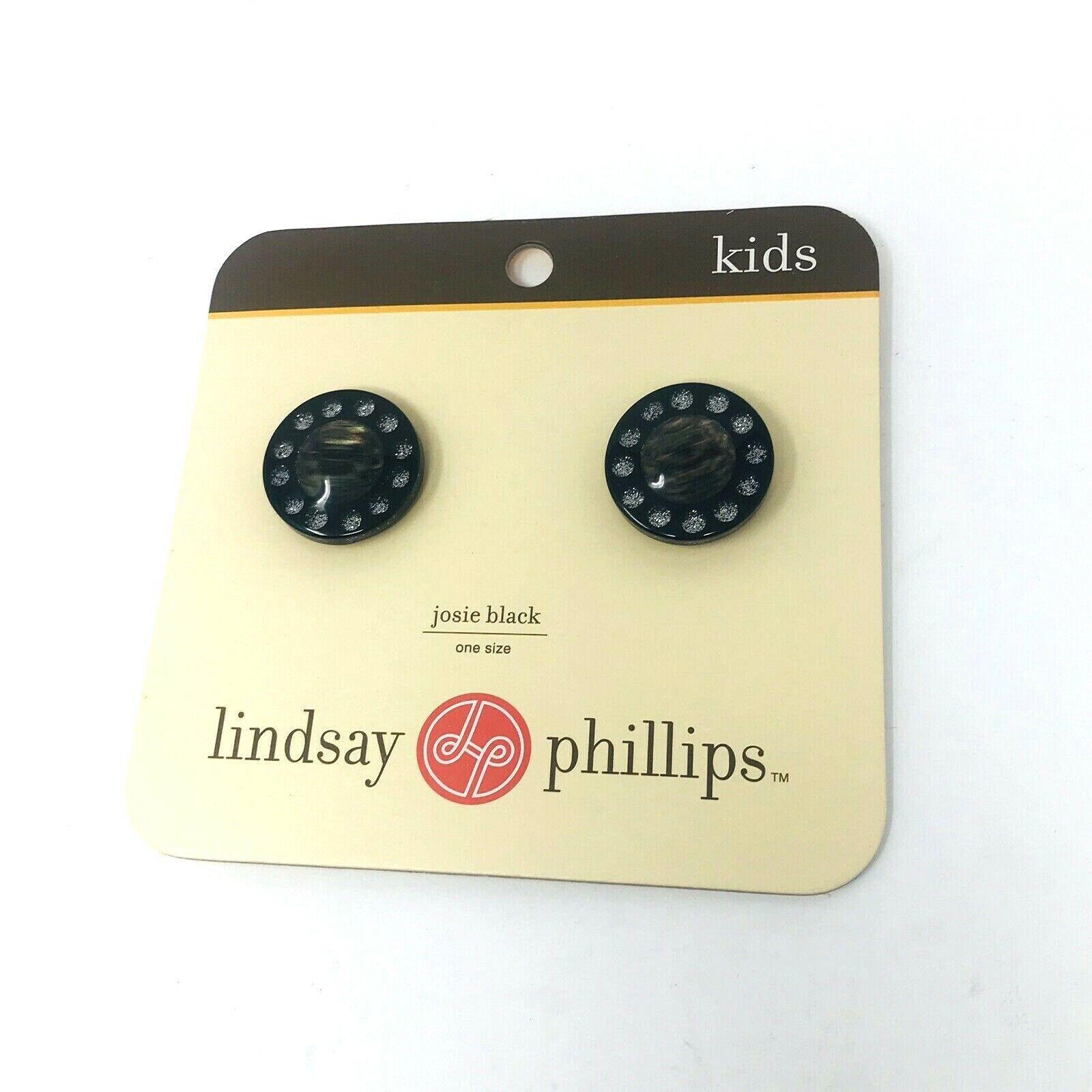 Lindsay Phillips Josie Black Snaps One Size RHINESTONE KIDS and ADULT