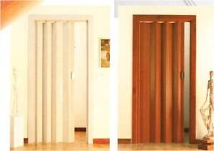 Porte porta a soffietto in pvc su misura diversi colori maniglia semplice mq ebay - Porta a libro su misura ...