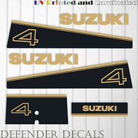 Suzuki 4 hp DT4 2 stroke outboard engine decal sticker set kit reproduction 4HP
