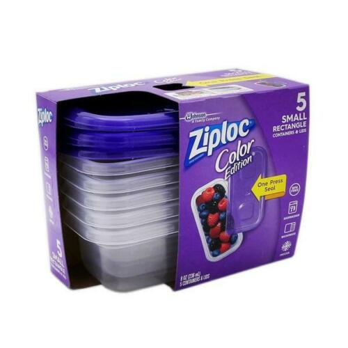 Ziploc Color Edition Reusable Food Storage Lunch Snack To-Go Containers w// Lids