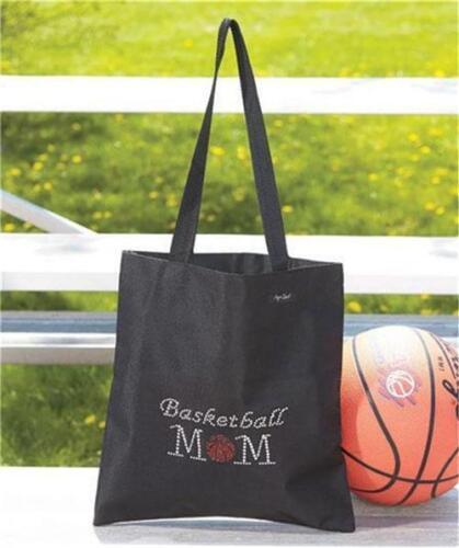 BASKETBALL SPORTS MOM FASHION BLING RHINESTONE TOTE ORGANIZER BAG
