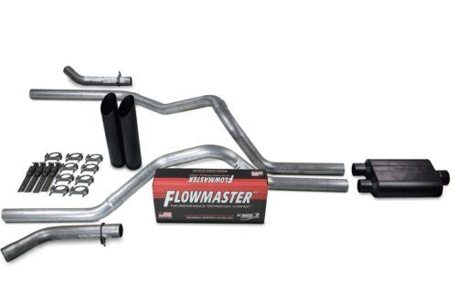 "Ford F-150 04-14 2.5/"" Dual Exhaust Kits Flowmaster Super 44 Black Tip Corner"