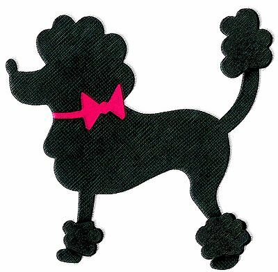 Sizzix Poodle large die #659509 MSRP $15.99 Cuts fabric, by Jen Long, SWEET!