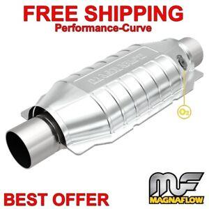 "Magnaflow 99356HM Heavy metal Catalytic Converter Round 2.5/""  w// O2 Port"