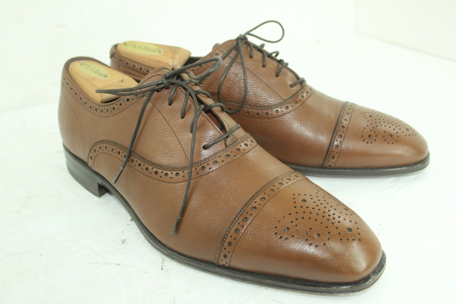 MONTE ROSSO  SCARPE MADE IN ITALY SIZE 10.5 M LEATHER IN GREAT CONDITION BROWNS