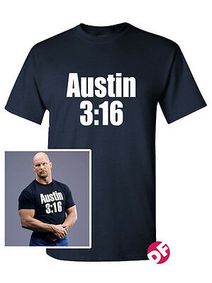 Steve Austin 3:16 T-shirt Stone Cold WWE WWF ECW TV UNISEX Kids Ladies tee