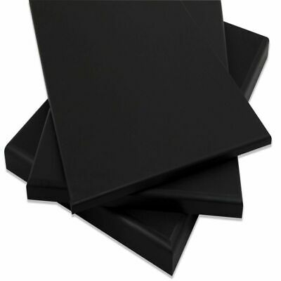 "HDPE Black Plastic Polyethylene Sheets 1"" Thick You Pick The Size"