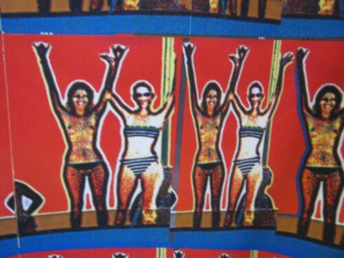 Size Jacket Tamsen Ladies Bright 6 Print Front Bikini Retro Zip Nude TExqx5
