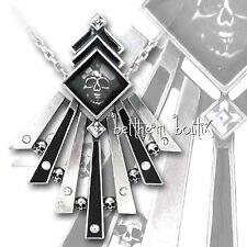 Goth : Alchemy Collier Chaine & Pendentif Tête de Mort Demimondaines Gothique