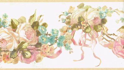 Darling Cottage Floral Swag Wallpaper Border