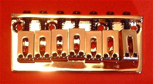 GOLD Guitar Parts 7-String FIXED HARDTAIL BRIDGE