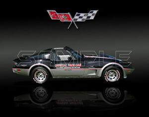 1978 corvette pace car print ebay. Black Bedroom Furniture Sets. Home Design Ideas